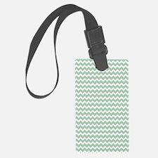 Chevron Zigzag Pattern Mint Gree Luggage Tag