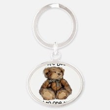 Make life bearable  Oval Keychain