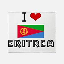 I HEART ERITREA FLAG Throw Blanket