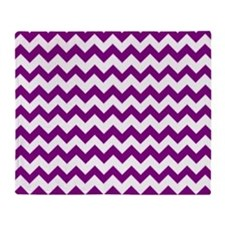 Chevron Zigzag Pattern Purple and Wh Throw Blanket