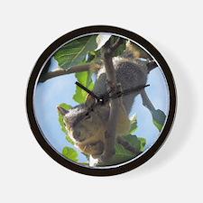 Cute Squirrel in Fig Tree Wall Clock