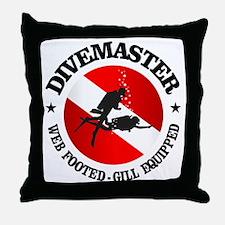 Divemaster (Round) Throw Pillow
