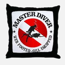 Master Diver (Round) Throw Pillow