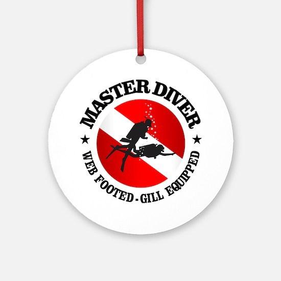 Master Diver (Round) Round Ornament
