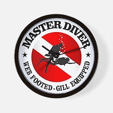 Master Diver (Round) Wall Clock