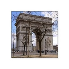 "arc de triompheday Square Sticker 3"" x 3"""