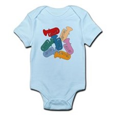 Colorful Tubas Infant Bodysuit