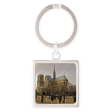 notre damemouse1 Square Keychain