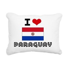 I HEART PARAGUAY FLAG Rectangular Canvas Pillow