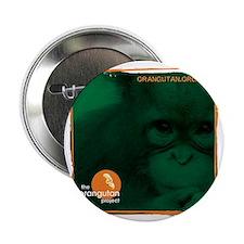 """Orangutan Face 2.25"""" Button"""