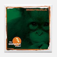 Orangutan Face Tile Coaster