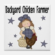 Backyard Chicken Farmer Tile Coaster
