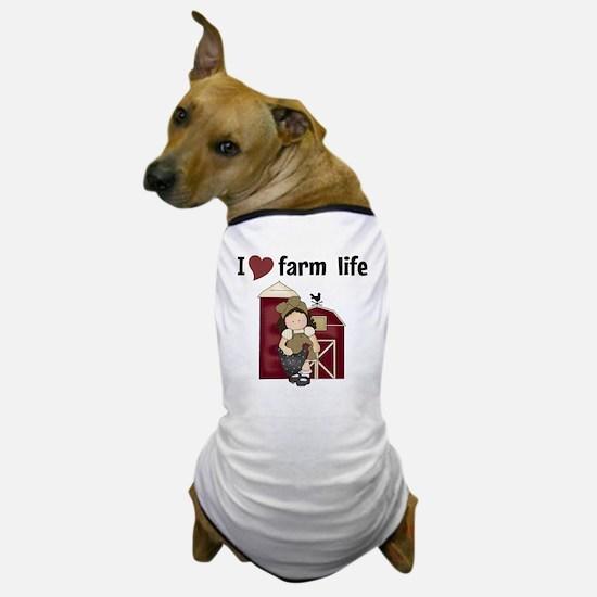 I Love Farm Life Dog T-Shirt