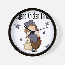 Backyard Chicken Farmer Wall Clock
