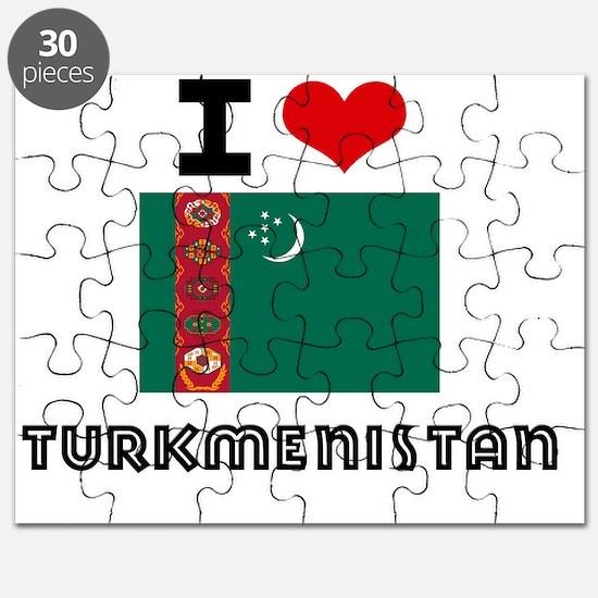 I HEART TURKMENISTAN FLAG Puzzle