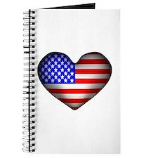3D USA Flag Heart Journal