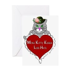 More Kitty Kisses Less Hate Greeting Card