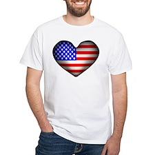 3D USA Flag Heart Shirt