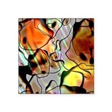 "Eerie Abstract Flipped Square Sticker 3"" x 3"""