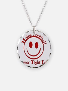 Hates Football Loves Tight E Necklace
