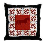 Racking Horse Rd Throw Pillow