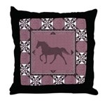 TWH Quilted2 Mauve Throw Pillow