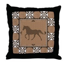 TWH Quilted2 Tan Throw Pillow