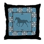 TWH Quilted2 Teal Throw Pillow