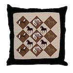 Brown Mt Horse Throw Pillow