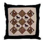 Brown Mt Horse 2 Throw Pillow