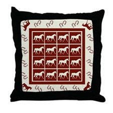 Red FX Trotter Throw Pillow