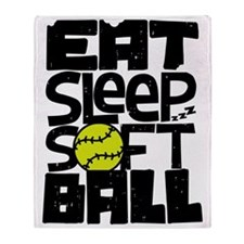 EAT, SLEEP, SOFTBALL Throw Blanket