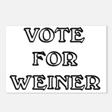 Vote for Weiner Postcards (Package of 8)