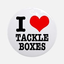 I Heart (Love) Tackle Boxes Ornament (Round)