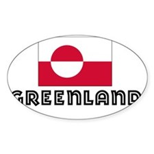 I HEART GREENLAND FLAG Decal