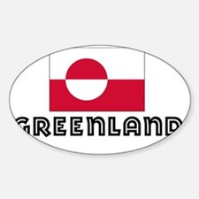 I HEART GREENLAND FLAG Sticker (Oval)