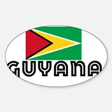 I HEART GUYANA FLAG Decal