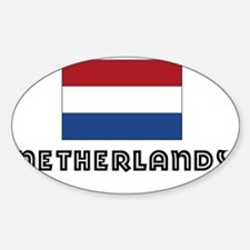 I HEART NETHERLANDS FLAG Decal