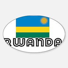I HEART RWANDA FLAG Sticker (Oval)