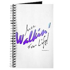 Just Walkin' For Life (Blue) Journal