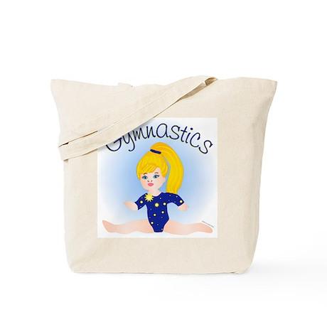 Gymnast Girl Blonde Tote Bag