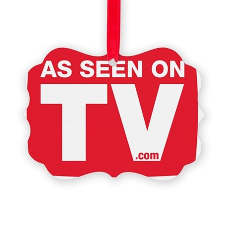 As Seen On TV Logo Picture Ornament