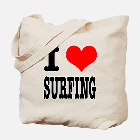 I Heart (Love) Surfing Tote Bag