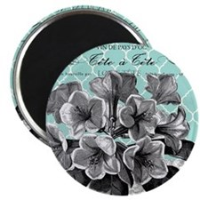 Heather Myers 036b MODERN BLOOMS ice blue2 Magnet