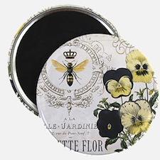 Modern Vintage French Pansies Magnet