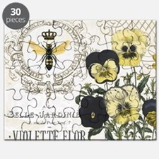 Modern Vintage French Pansies Puzzle