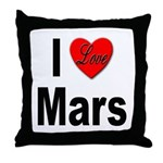 I Love Mars Throw Pillow