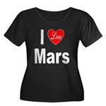 I Love Mars (Front) Women's Plus Size Scoop Neck D