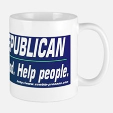 Annoy a Republican. Help People Small Small Mug