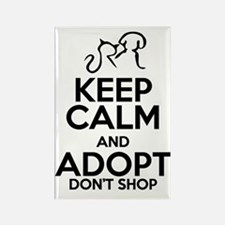 Keep calm and adopt dont shop Rectangle Magnet